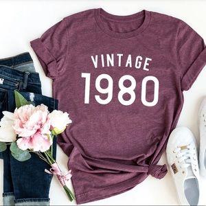 Tops - Vintage 1980 Birthday Shirt, 40th Birthday!